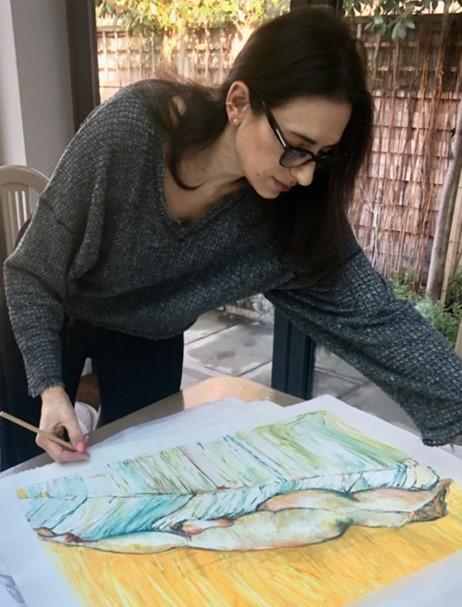 Despina editioning 'Still Life' monoprints